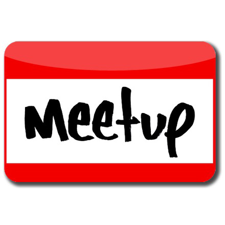 A name badge with the word Meetup written on it