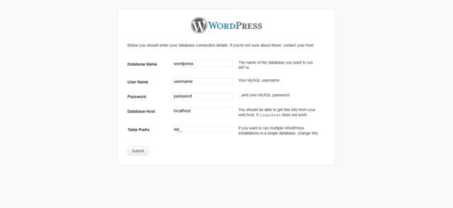 WordPress Installation Photo Step 3